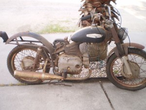 rusted harley